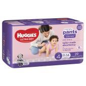 Huggies Ultra Dry Nappy Pants Toddler Girl Pack 29 Carton Of 4