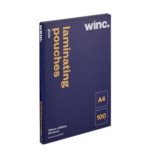 Winc Gloss Laminating Pouches A4 80 Micron Pack 100