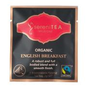 Serenitea Infusions Fairtrade Organic English Breakfast Enveloped Pyramid Tea Bags Pack 100