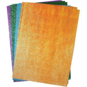 Rainbow Glitter Paper A4 Assorted Colours Pkt 50