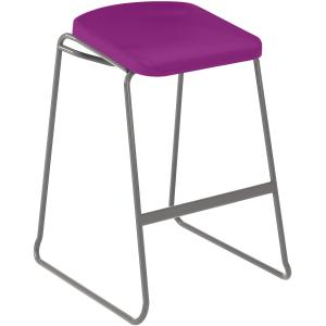 Sebel Postura Focus Stool 750(h) x 490(w) x 550(d)mm with Vinyl Rubber Glide Aqua/Warm Grey