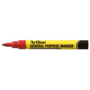 Artline General Purpose Markers Red - Box 12
