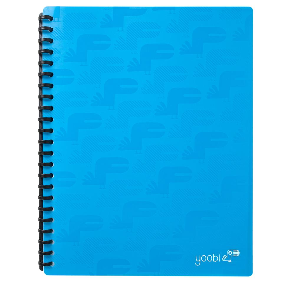 Yoobi Display Book A4 20 Sleeves Blue