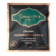 Serenitea Infusions Organic Peppermint Enveloped Pyramid Tea Bags Pack 100