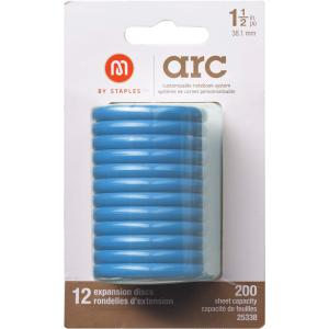 M By Staples ARC System 38mm Rings Notebook Expansion Disc Blue 12/Pack
