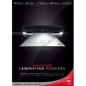 GBC A4 80 Micron Gloss Laminating Pouches - 100-Pack