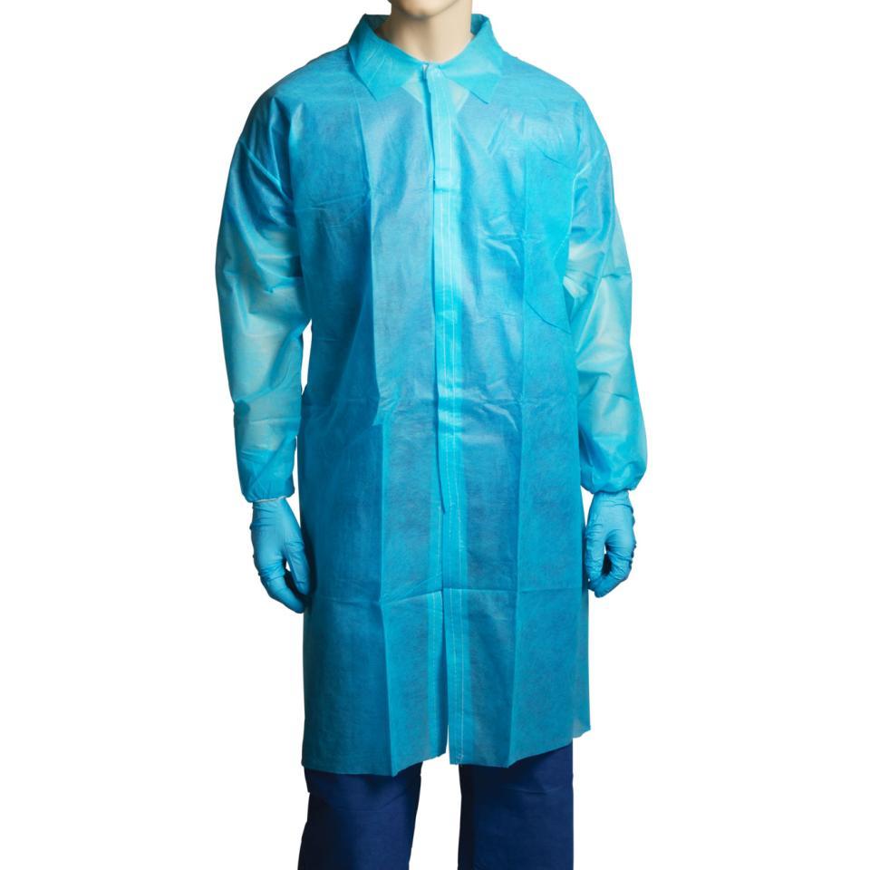 Bastion - Polypropylene Labcoat Blue No Pocket Xxx Large - Carton 100