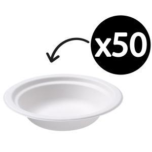 Castaway Enviroboard Round Bowl Small 152X152X45mm White Pack 50