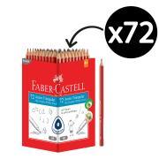 Faber Castell 116572-HB Junior Triangular Grip HB Writing Pencil - Box 72