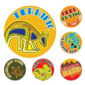 Avery Merit and Reward Stickers - Australian Art 30 mm diameter Pack 96