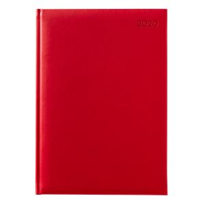 Winc Soft Touch 2020 Hard Cover Diary A4 Day to Page Red