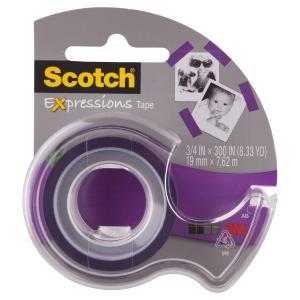 Scotch Expressions Tape C214-Pur-D 19mm X 7.62m Purple