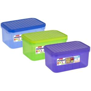 Decor Pumped Duo 2 Lunchbox Assorted Colours 2.3 Litre