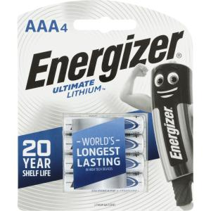 Energizer Ultimate Lithium 1.5v Lithium Aaa Battery Pack 4