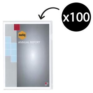 Marbig Letter File A4 Ultra PP Clear Pk100
