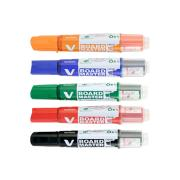 Pilot Begreen V Board Whiteboard Marker Chisel Assorted Colours Set 5