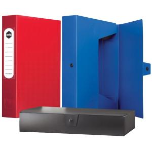 Marbig Box File With Button A4 Blue
