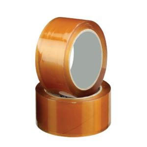 Staples Packaging Tape Pp30S Rubber 38mmx75m Clear Carton 48 Rolls