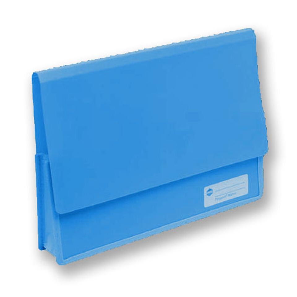 Marbig Polypick Heavy Duty Document Wallet A4 Blue