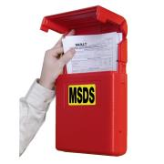Pba Safety Document Storage Box Red Each