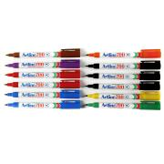 Artline 700 Permanent Marker Fine 0.7mm Assorted Colours Box 12