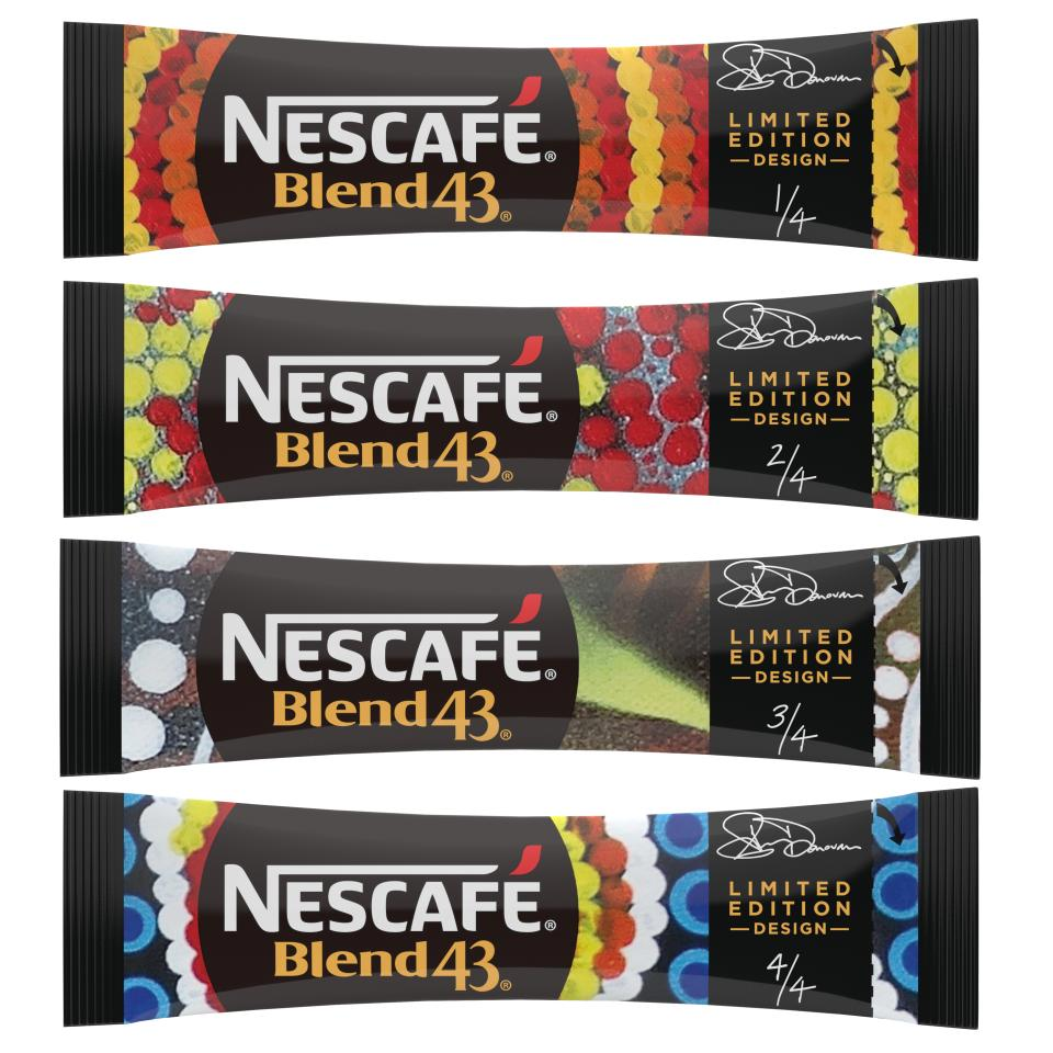Nescafe Blend 43 Limited Edition Indigenous Art Instant Coffee Sticks 1.7g Carton of 1000