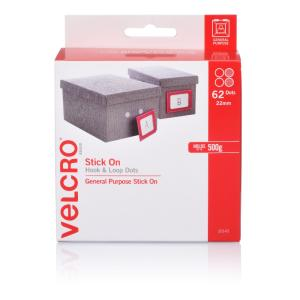 VELCRO Brand Fastener Hook and Loop 22mm Dots Pack 62