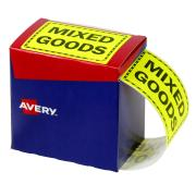 Avery Mixed Goods Labels - 125 x 75mm - Fluoro Yellow - 750 Labels