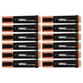 Winc Highlighter Recycled Chisel Tip 1.0-4.5mm Orange Box 12