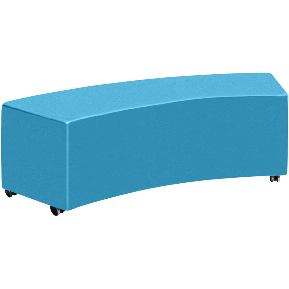 Sebel Big Softie Clique Ottoman on Castors 430(h)x1450(w)x474(d)mm Studio Encore Vinyl Lagoon