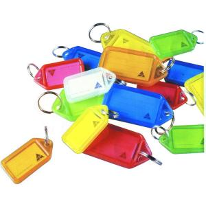 Kevron 46944 Key Tags Assorted Flourescent Pkt 10