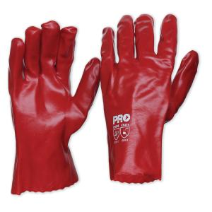 Pro Choice Pvc27 Red PVC Short Gloves One Size Pair