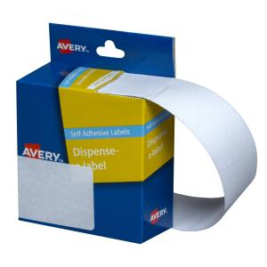 Avery White Rectangular Dispenser Labels - 63 x 44mm - 150 Labels - Hand writable