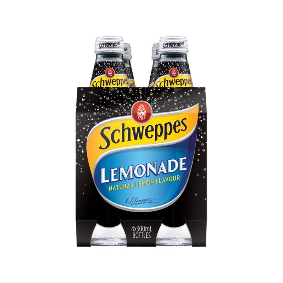 Schweppes Lemonade 300ml Bottle Pack 4