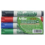 Artline Eco-Green Whiteboard Marker Bullet Assorted Set 4