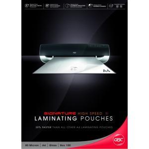 GBC A4 80 Micron High Speed Gloss Laminating Pouches - 100-Pack