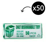 Austar Bin Liners Kitchen Tidy EPI 36 Litre Green Roll 50