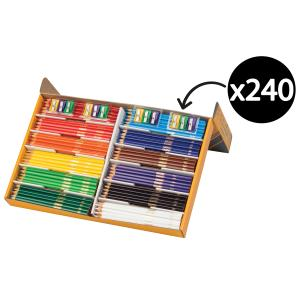 Crayola Triangular Coloured Pencils 12 Sharpener Box 240
