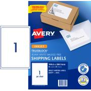Avery Shipping Labels with TrueBlock for Inkjet Printers - 199.6 x 289.1mm - 50 Labels (J8167)