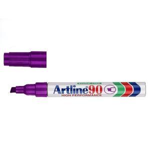 Artline 90 Permanent Marker Chisel Tip 2-5mm Purple