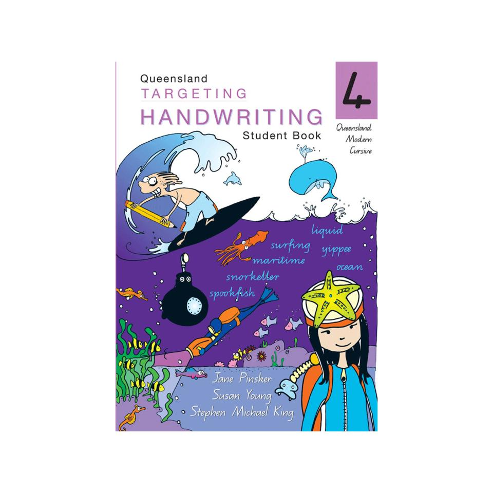 Pascal Press Targeting Handwriting QLD Student Book Year 4 Jane & Young Pinsker