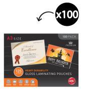 GBC A3 125 Micron Gloss Laminating Pouches 100 Pack