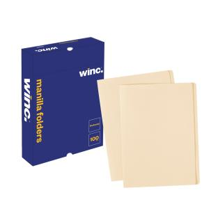 Winc Manilla Folder Foolscap Buff Box 100