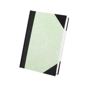 Staples Hardcover Notebook A4 Feint Ruled 200 Page Tweed Green/Black