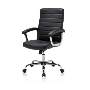 Tokyo Executive Chair With Fixed Arms Black