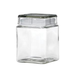 Lovely Connoisseur Glass Square Storage Jar 1.25L