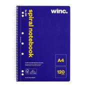 Winc Spiral Notebook No. 335 A4 Perforated 120 Pages