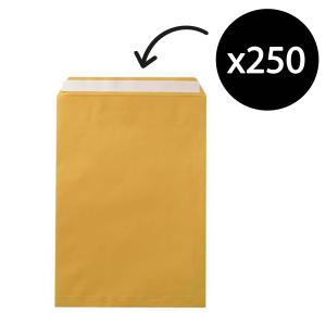 Winc Kraft Peel-N-Seal Pocket Envelope Gold 458 x 324mm Box 250