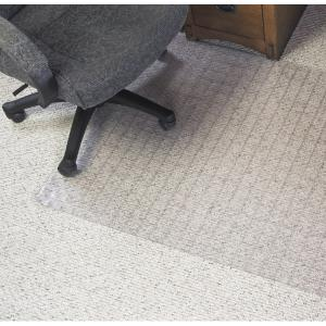 Marbig Chairmat Duramat Grid PVC Key Hole Style Anti Static Low Pile Carpet 1210l x 910wmm Matt