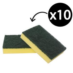 Scourer Sponge 150 X 100mm Green Pkt10